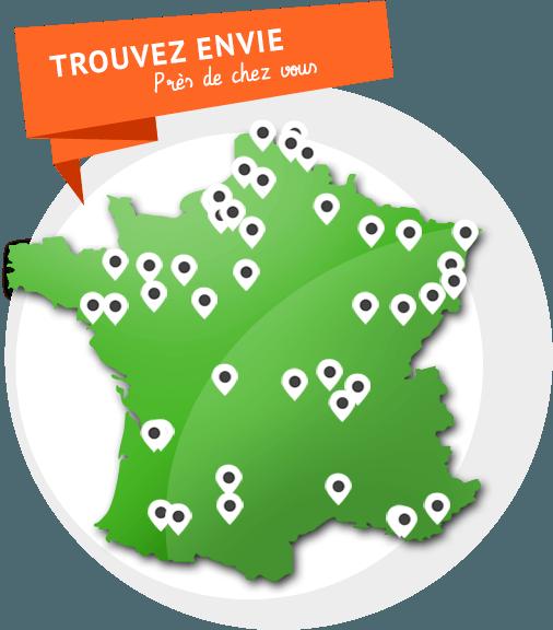Carte Envie France